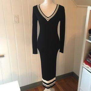 soloiste Dresses - Soloiste Long Sleeve Rib Knit Midi Dress